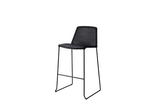 CANE-LINE BREEZE BAR CHAIR IN BLACK CANE-LINE FIBRE