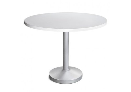 PAVILION PEDESTAL 48 INCH ROUND DINING TABLE WITH POWDER COATED ALUMINUM BASE AND TOP