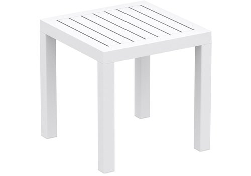 SIESTA OCEAN SQUARE SIDE TABLE / WHITE