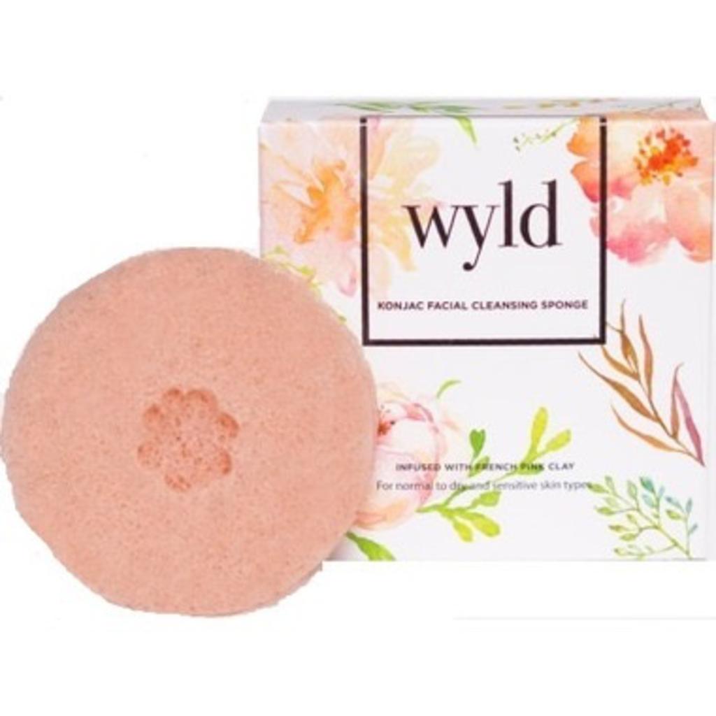 Wyld, Konjac Sponge French Pink Clay