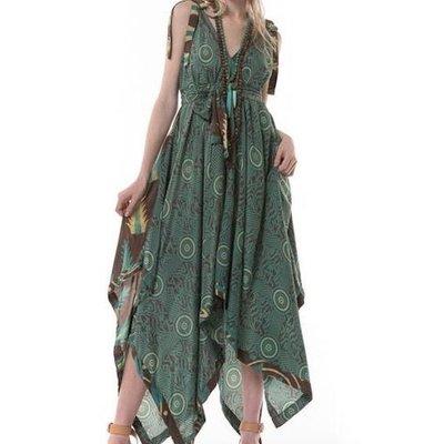 Upcyled Sari, Durga Dress