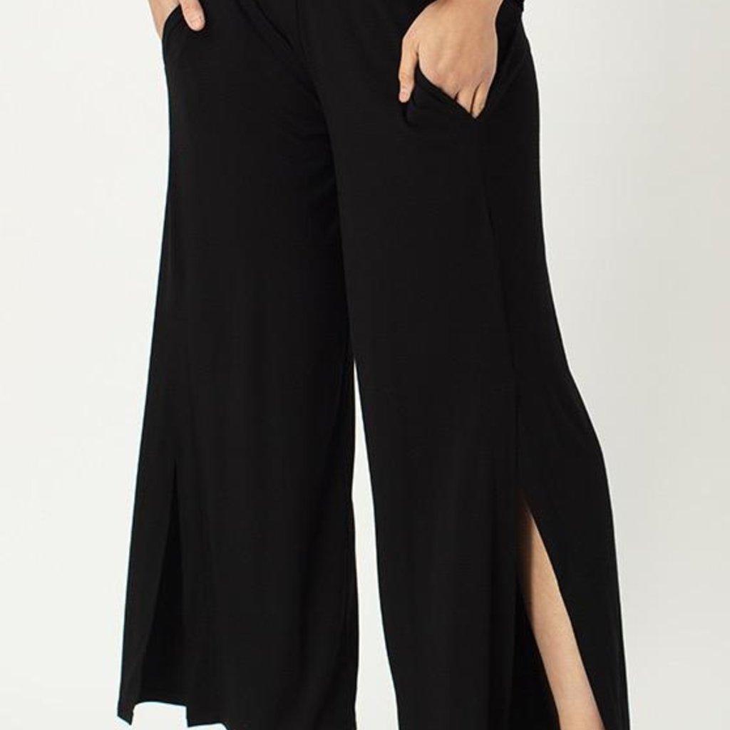 LNBF, Slit Front Wide Leg Pant