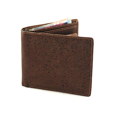 Kuma Sunglasses Dark Cork Folding Wallet