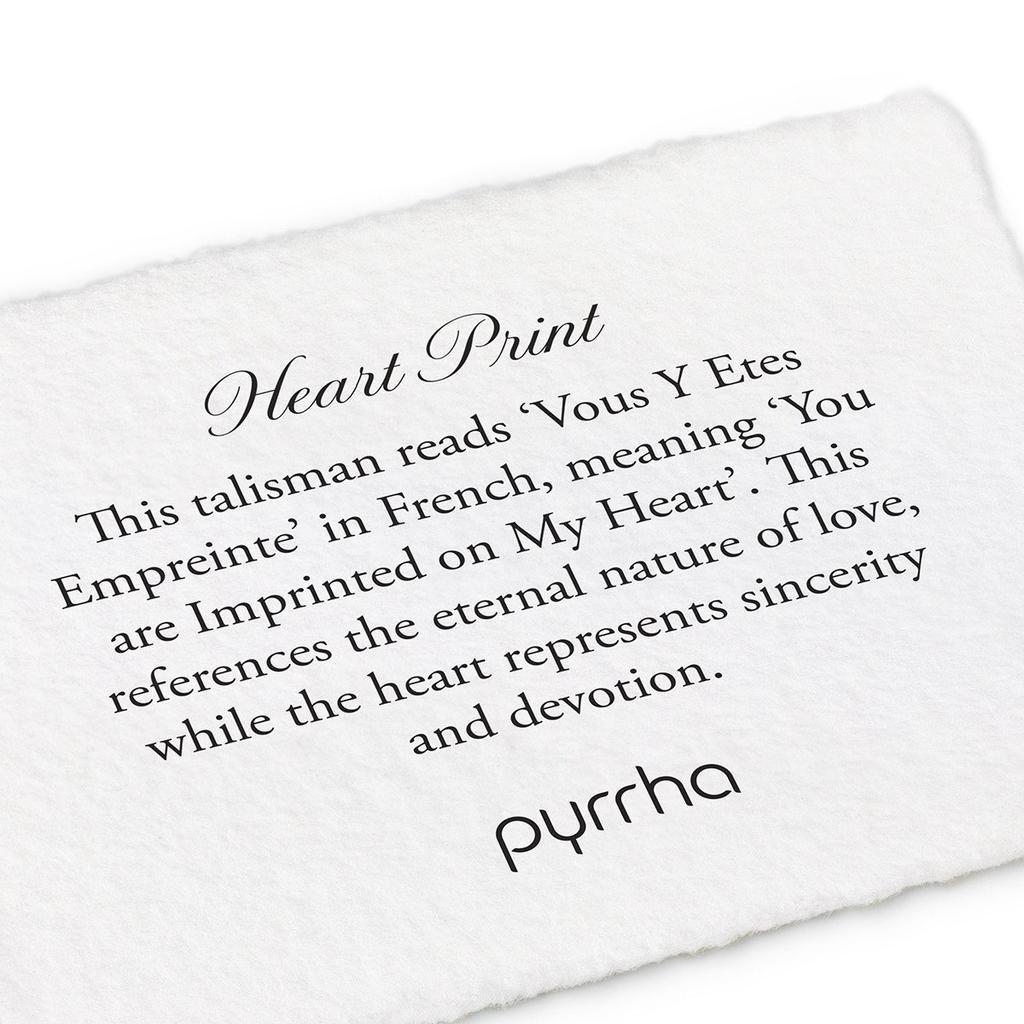 Pyrrha Pyrrha, Heart Print