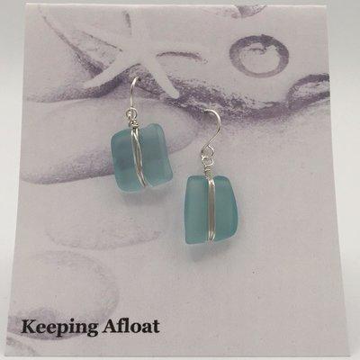 Keeping Afloat, Fishing Float Wrap Earrings