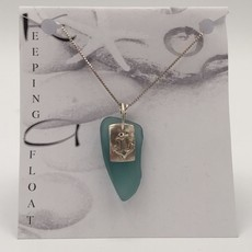 Keeping Afloat, Fishing Float & Anchor Necklace