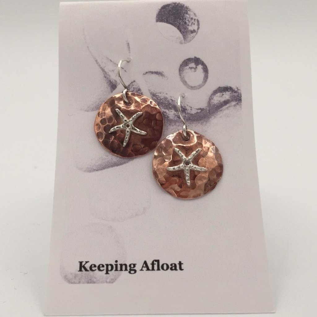 Keeping Afloat, Copper Star Earrings