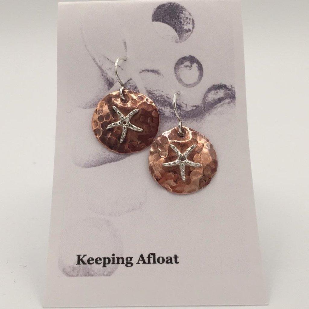 Keeping Afloat, Copper Star Earrings