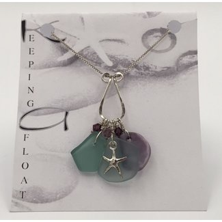 """Keeping Afloat, Fishing Float, """"Bounty"""" Charm Necklace"""