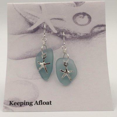 Keeping Afloat, Fishing Float & Seastar Earrings