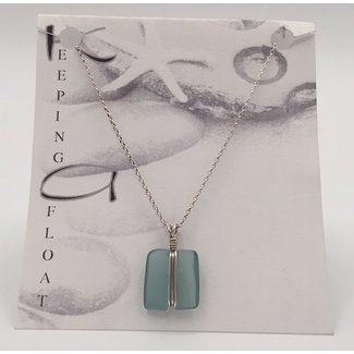 Keeping Afloat, Fishing Float Wrap Necklace