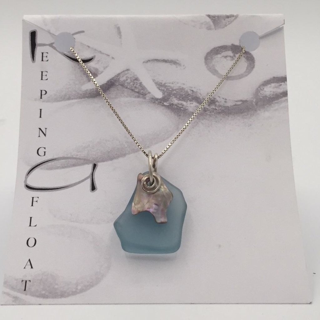 Keeping Afloat, Fishing Float & Abalone Necklace