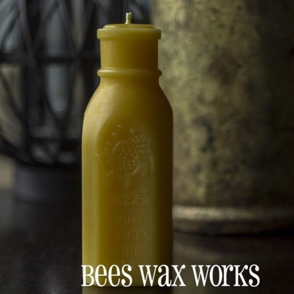 Bees Wax Works Bees Wax Works, Honey Bottle Candle