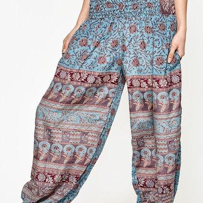 Wear Guru Guru, Genie Pant w/ Slash Pockets (Up-cycled Sari)