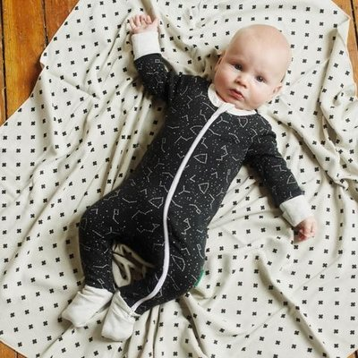 Parade Organics Parade, 2 Way Zipper Romper Long Sleeve