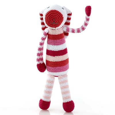 Pebbles Pebble, Stripey Pink Bunny Rattle