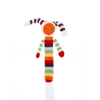 Pebbles Pebble, Rainbow Bunny Stick Rattle