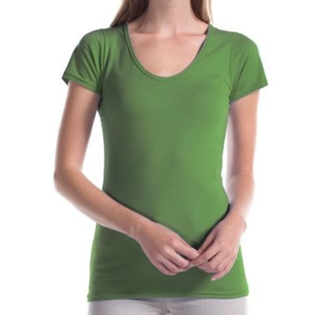 Jerico, Deep Scoop Neck T, Bamboo