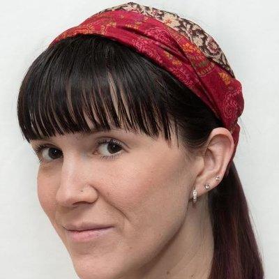 Wear Guru Guru, Upcycled Silk Headband