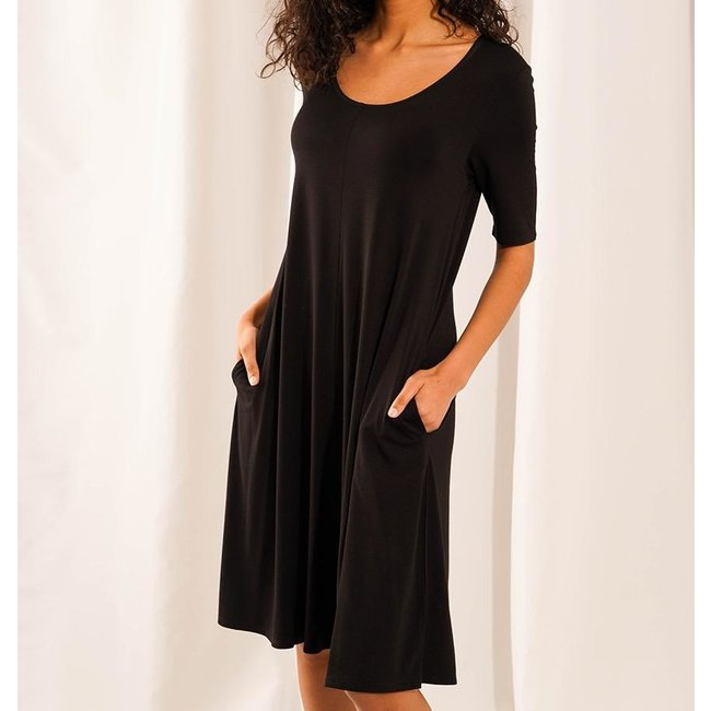 Leave Nothing But Footprints LNBF, Jill Elbow-Sleeve Dress