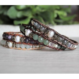 Woven Stone Jewelry Woven Stone Co, Single Wrap Bracelet