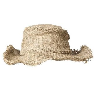 ARK Imports Ark, Hemp Wirerim Fringe Hat, Natural