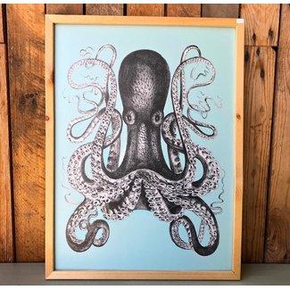 Skookum Prints, Octopus, Framed, 18X24