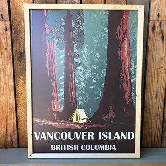 Skookum Prints, Rainforest Camping, Vancouver Island, 18X24