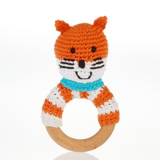 Pebbles Pebble, Fox Wooden Teething Ring