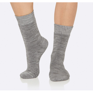 Boody Eco Wear Boody Eco Wear, Ladies Bamboo Crew Boot Sock, Grey Marl