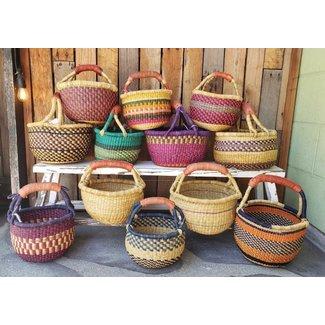 Baraka Baraka, Baby Basket (Leather Handle)