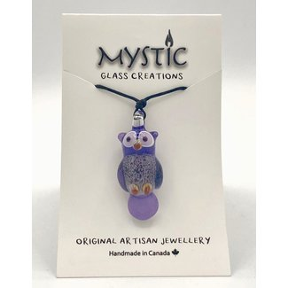 Mystic Glass Creations, Owl, Torch Worked Glass