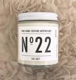 Number Candle Sea Salt (170 g) 30 Hour