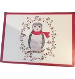 Cork-Backed Snowy Owl Placemats