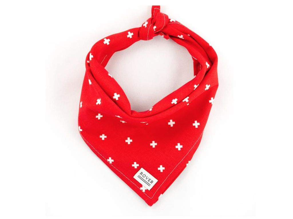 Rover Dog Bandana Red/White