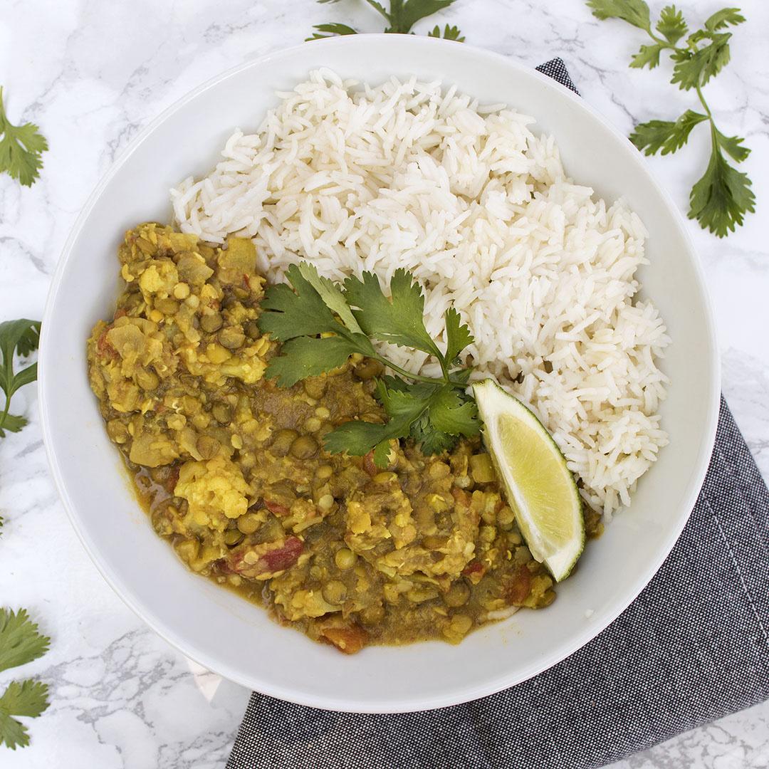 Vegetable Dahl Dinner (Serves 2)