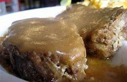 Beef Meatlaof In A Onion Gravy