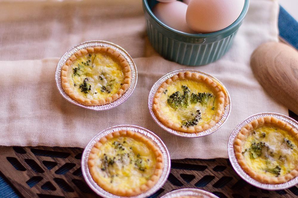 Broccoli  Quiche  & Soup Dinner (Serves 2)