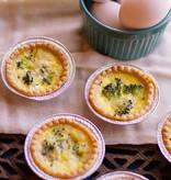 Broccoli & Cheese Quiche (Serves 2)