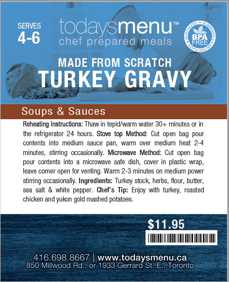 Thanksgiving Classic Dinner Menu Plus (Serves 4)