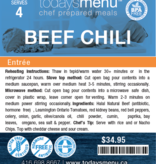 Beef Chili Dinner (Serves 4)