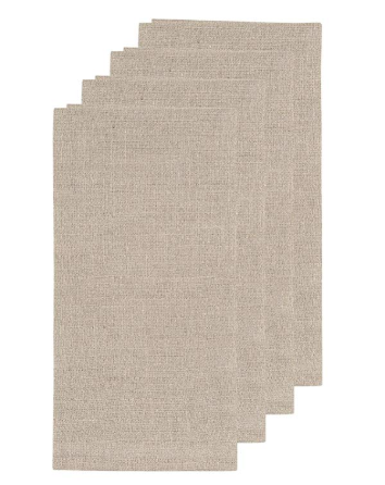 Stitch & Shuttle Linen Blend Napkins (Set of 4)