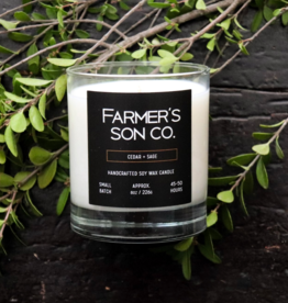 Farmer's Son Co. Soy Candle /Cedar & Sage 226 g / 45 hours