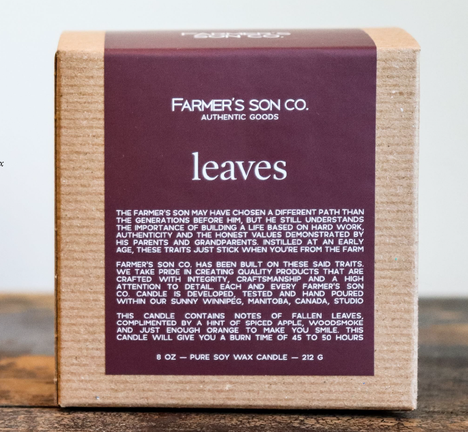 Farmer's Son Co. Soy Candle Leaves / 226 g / 45 hours