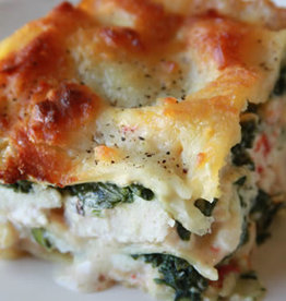 Chicken Spinach White Lasagna Serves 8)