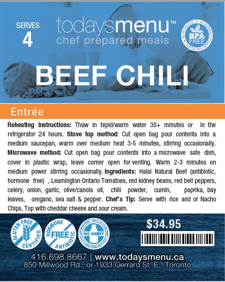 Beef Chili & Corn Bread DInner (Serves 4)