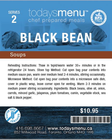 Black Bean Soup (Serves 4)