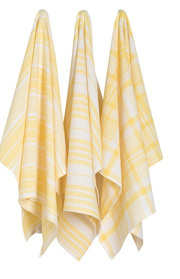 Jumbo Dishtowels Yellow (Set of 3)