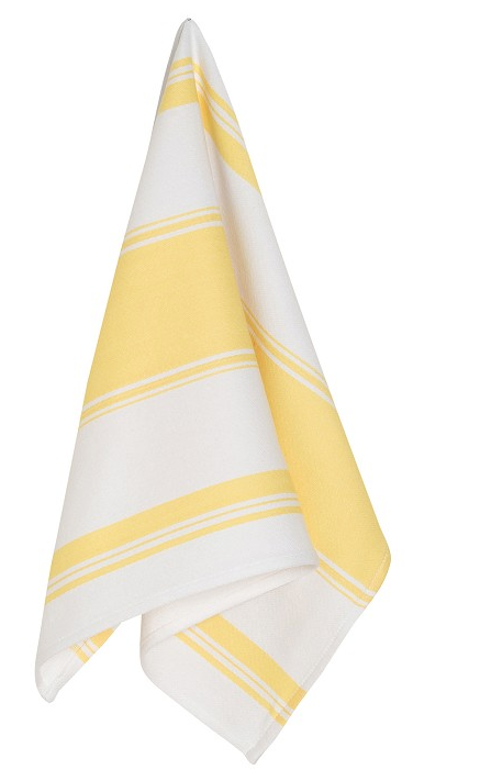 Symmetry Dishtowel Yellow Striped