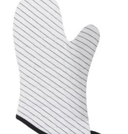 Oven Mitt White Stripe